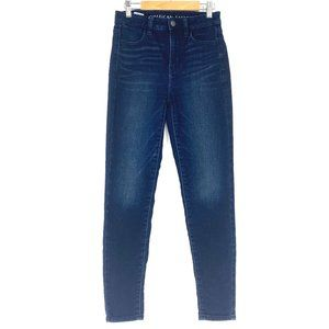 AMERICAN EAGLE Super High Rise Skinny Jeans - Sz 0